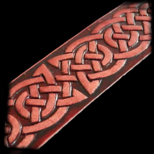 Kožený keltský náramok Pletenec